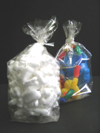"""Medium Clear Side Gusseted Poly Bags (Width from 16"""" to 30"""")"""
