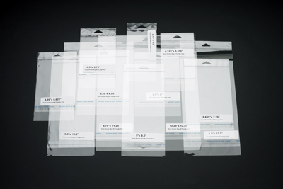 Crystal Clear Header Bag with Resealable Tape