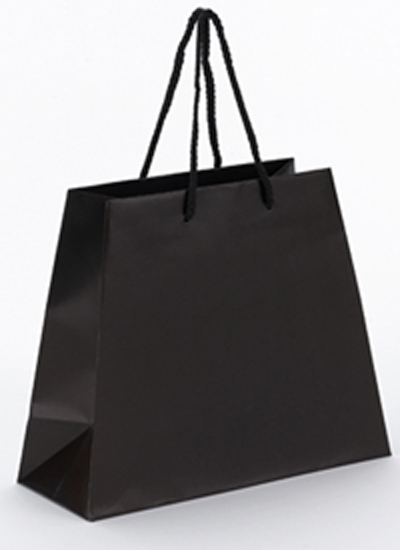 Laminated Trapezoid Shoppers with Rope Handle