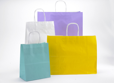 Gloss Colors Twisted Handle Shopping Bags
