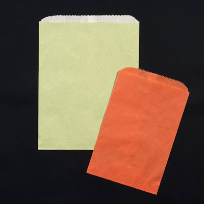 Matte Colors on Oatmeal Paper Merchandise Bags