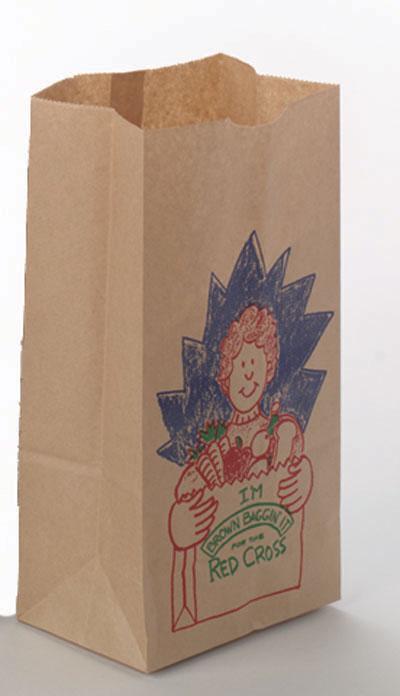 Printed SOS Kraft Paper Bags