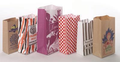 Printed SOS Color Paper Bags