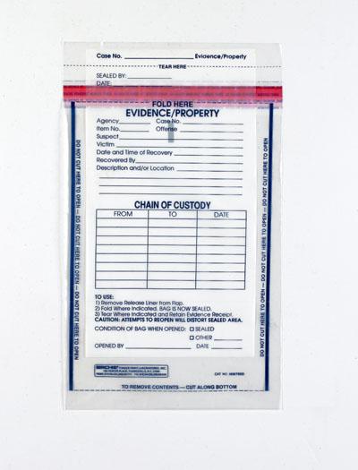 Evidence-Property-Patient Valuables Envelope w Tear-off Receipt
