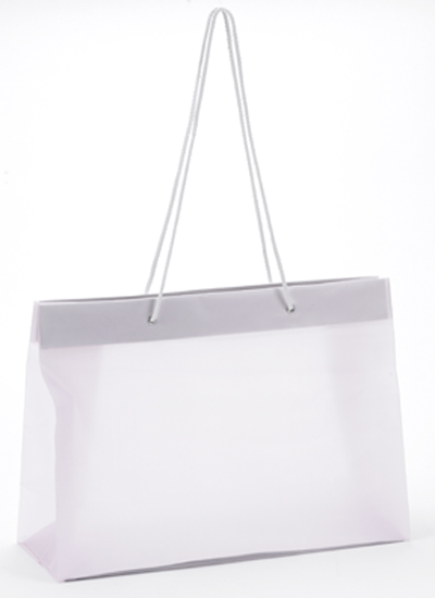 Frosted High Density Shoppers with Rope Handles