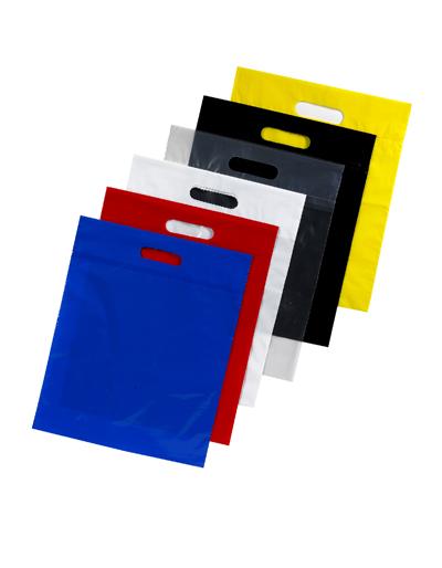 Low Density Colored Bags with Die Cut Handle