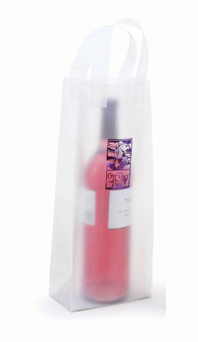 Printed High Density Loop Handle Wine Bags